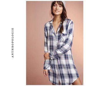 Anthropologie Rails Plaid sleep shirt / dress